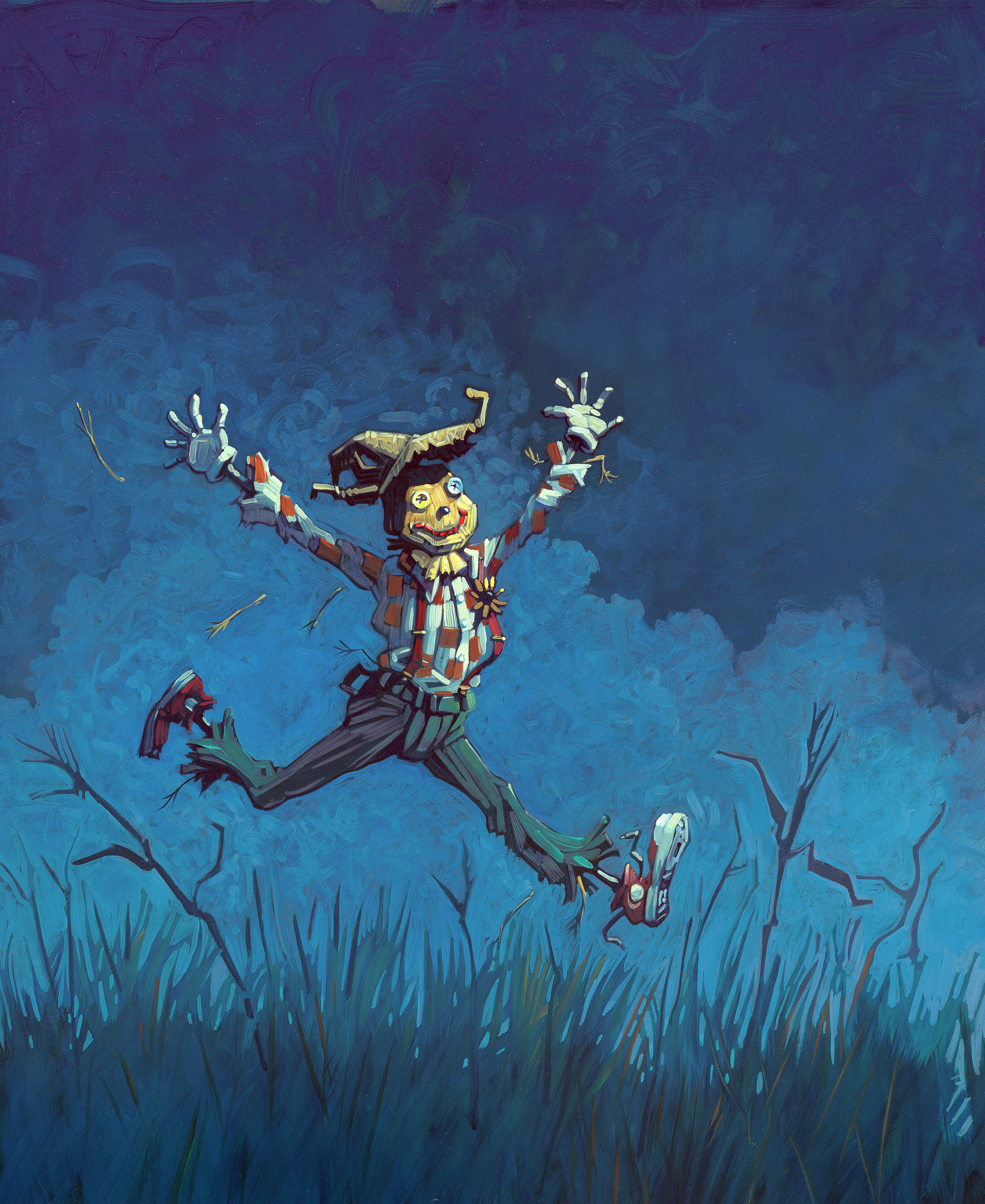 """Running Free   • 13"""" wide. Oil on illustration board, 2014.$450. Buy this painting."""