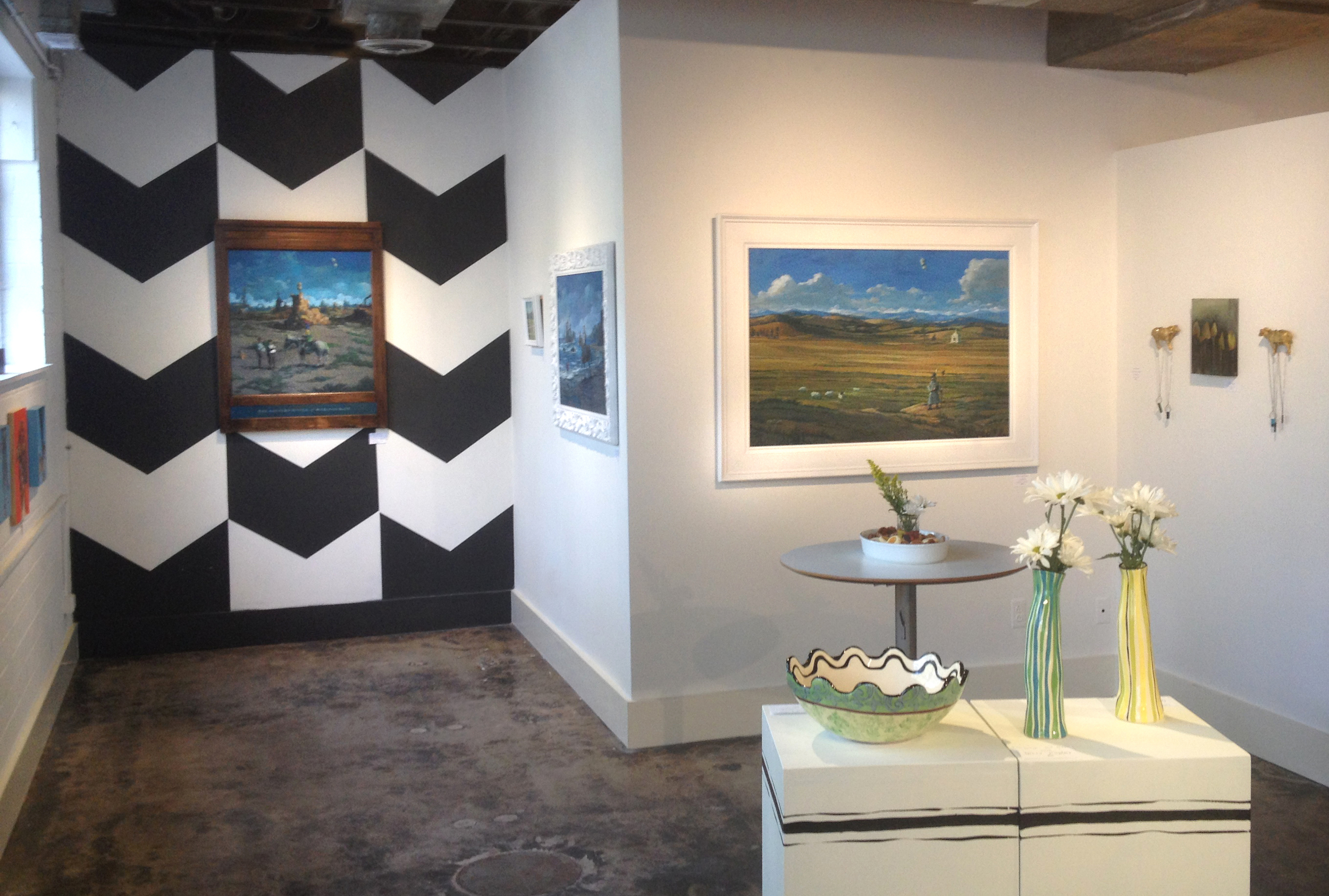 Gallery show at Studio K in Charlotte, NC.