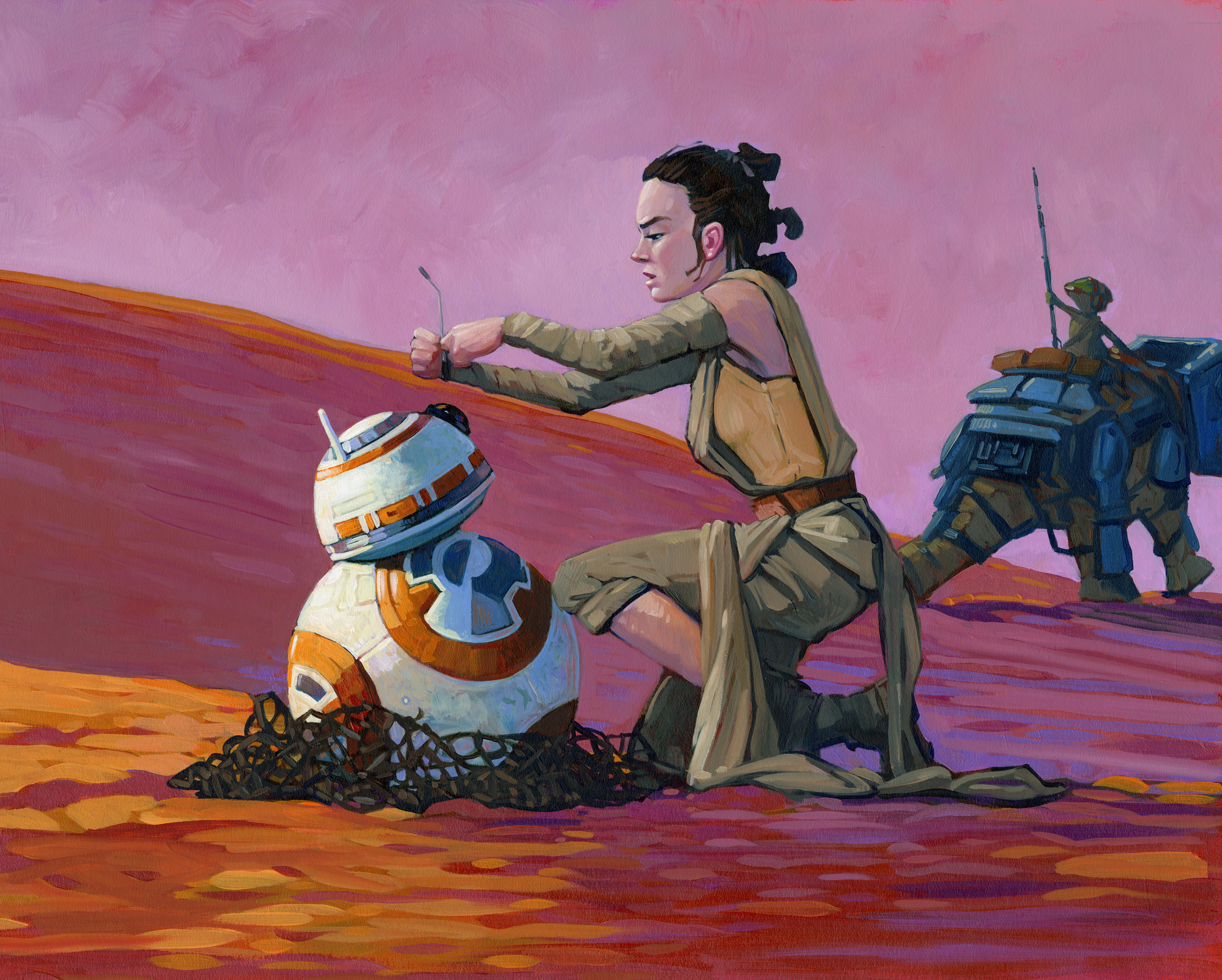 Rey   • Acrylic and Oil on illustration board