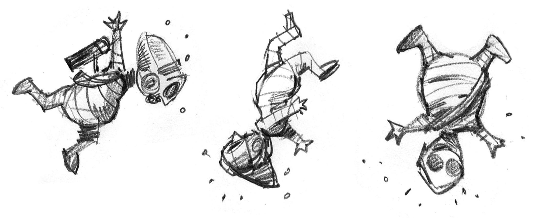 Teedo studies. He was the most fun to illustrate, with his beer gut. Grog gut?