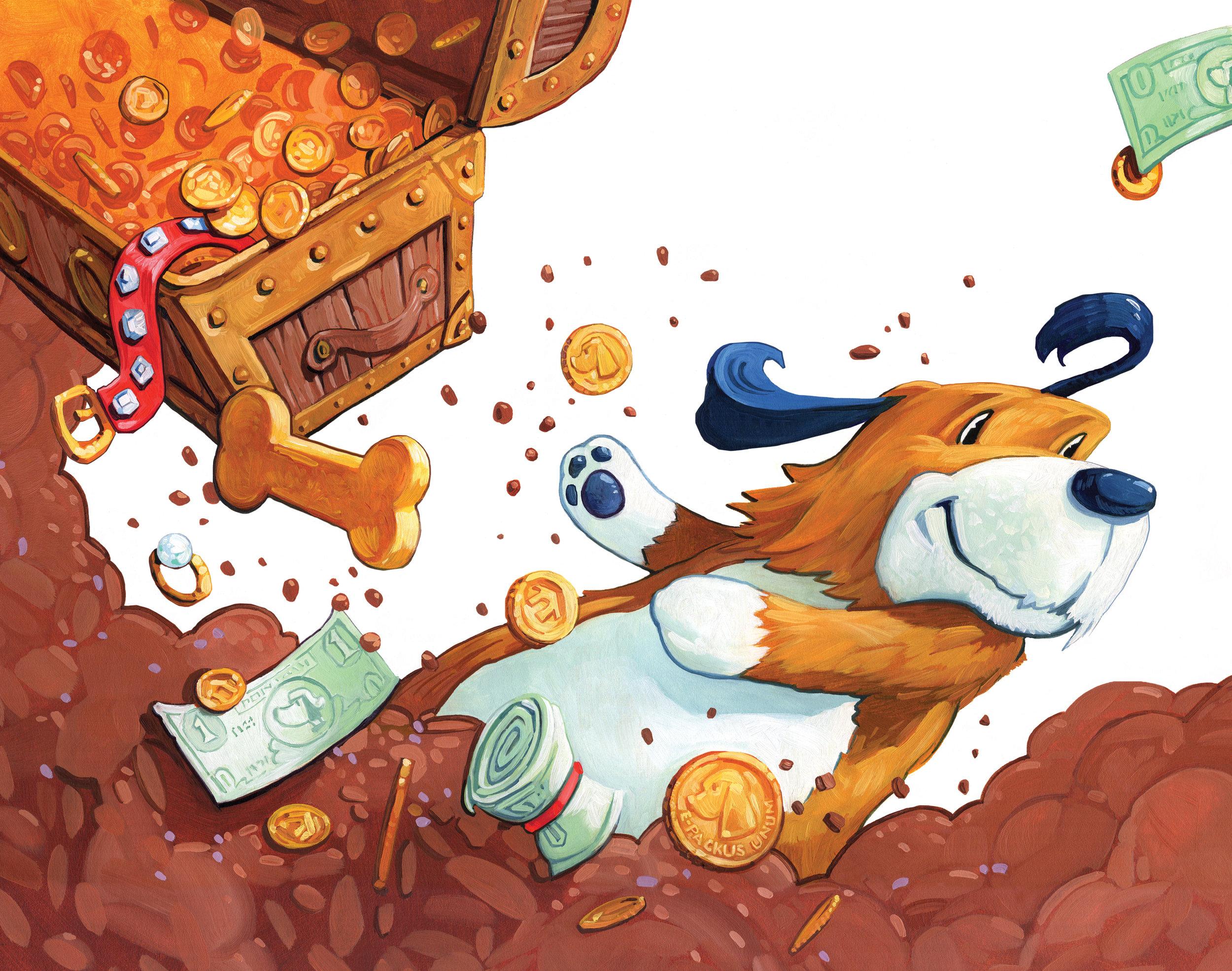 Buried Treasure   • Acrylic and Oil on illustration board