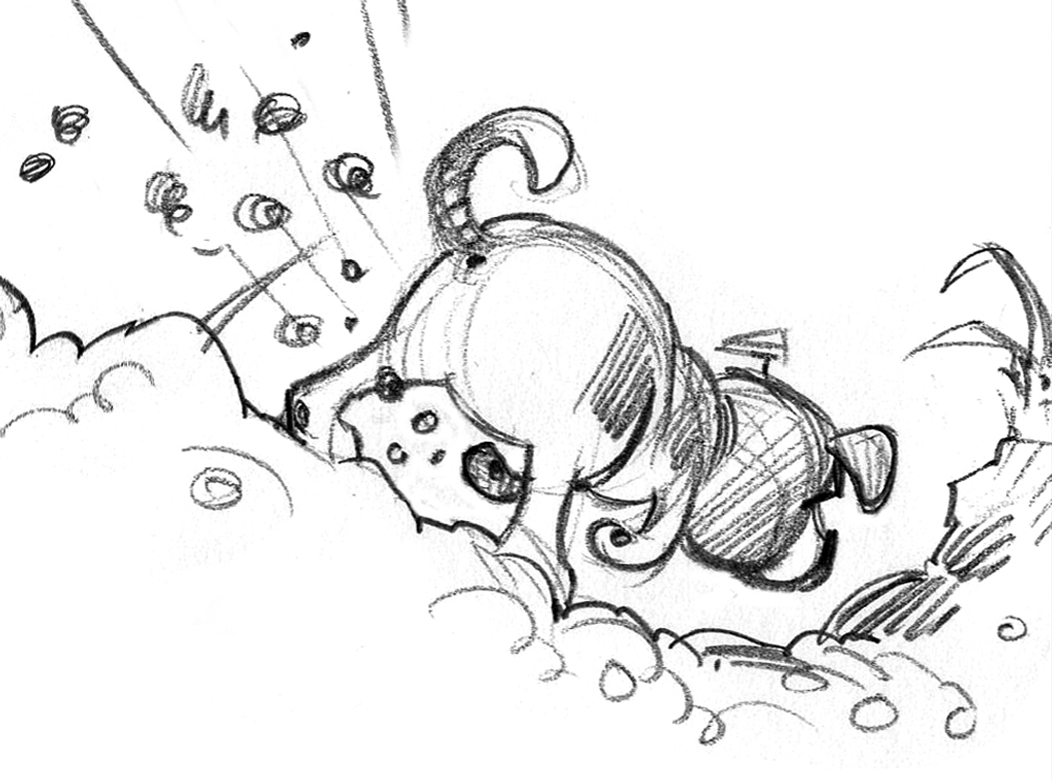 Tiny, also sketched with detail; my usual style.