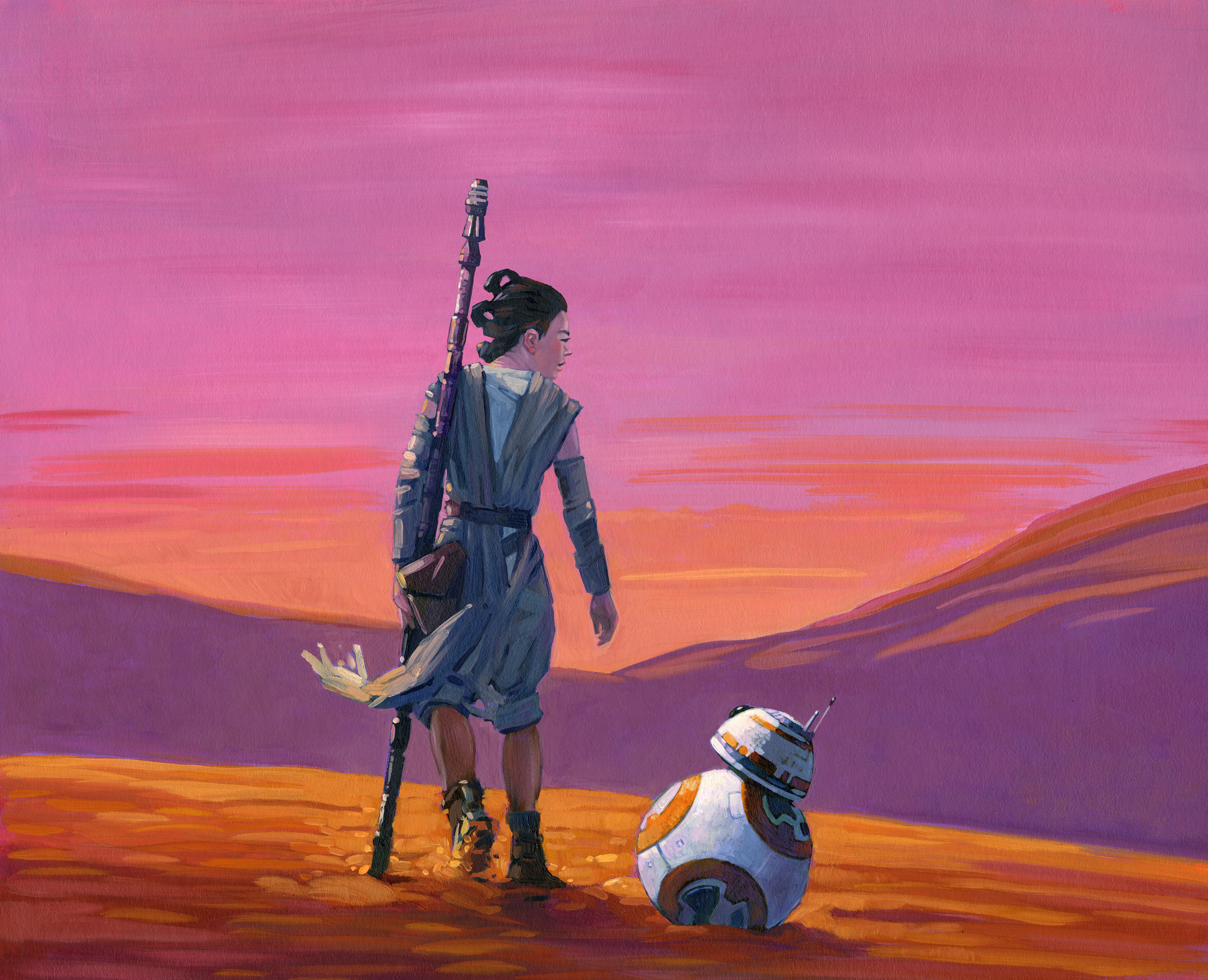 Original Illustrations from   BB-8 On the Run