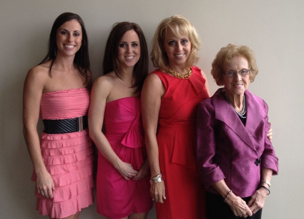 From left to right: Kaitlyn Feather Duell, Kara Feather McGinley, Karla Feather, and Lorraine Goddard.
