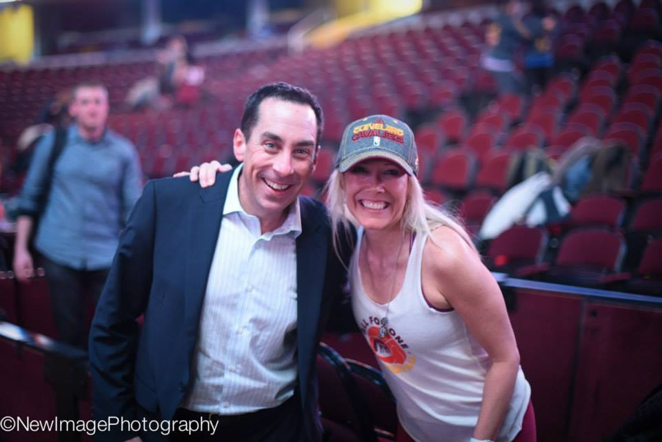 Destination Cleveland  CEO Dave Gilbert with Tammy Lyons at our Event #6 at Quicken Loans Arena.