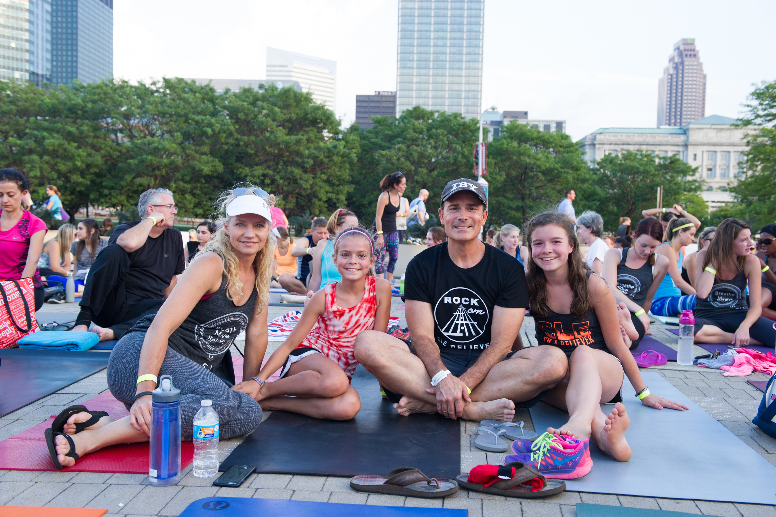 Tim and his family (absent: son Brady) at Believe in CLE Event #8 at the Rock Hall, September 2015