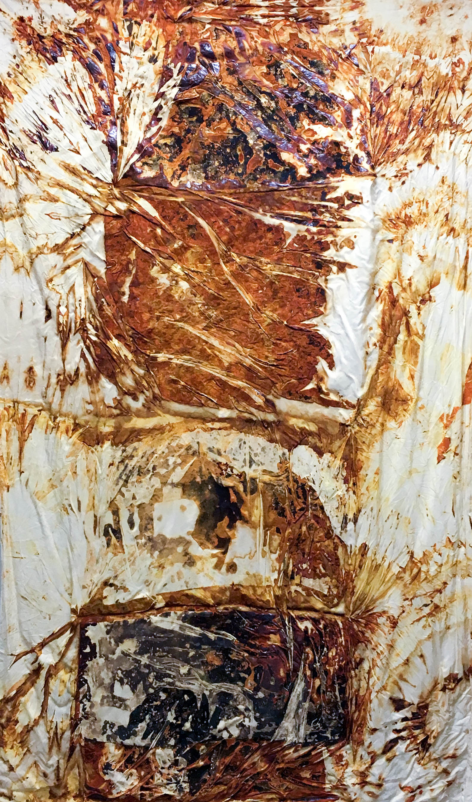 This No Longer Exists II,  2015  Rust on silk