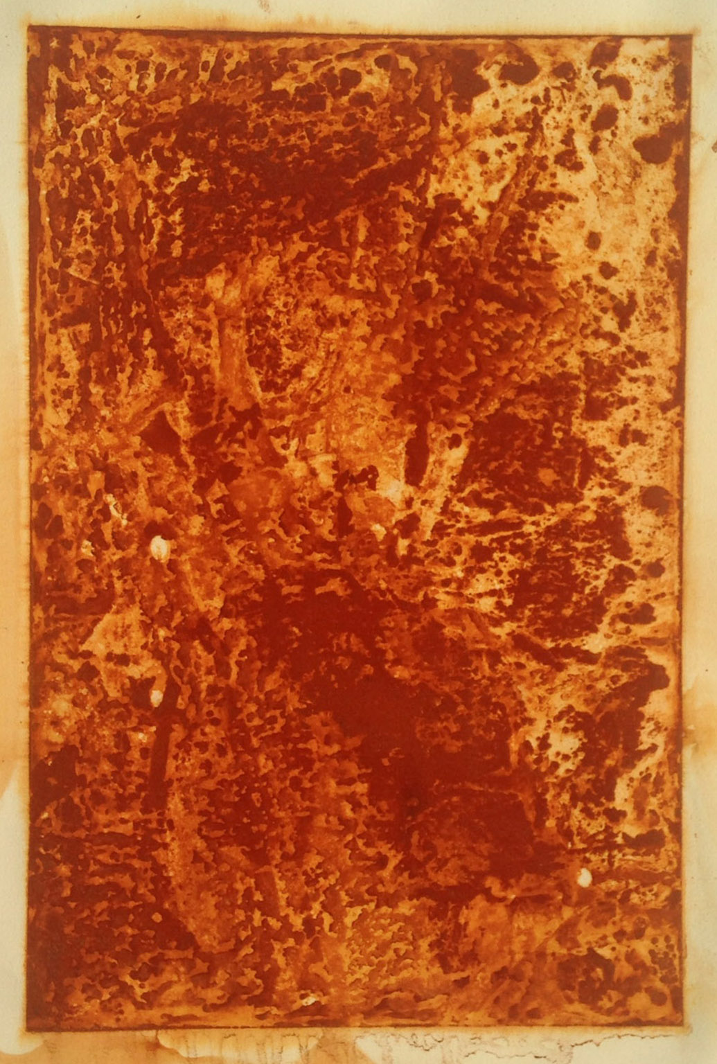 Steel Study I,  2015  Rust on paper