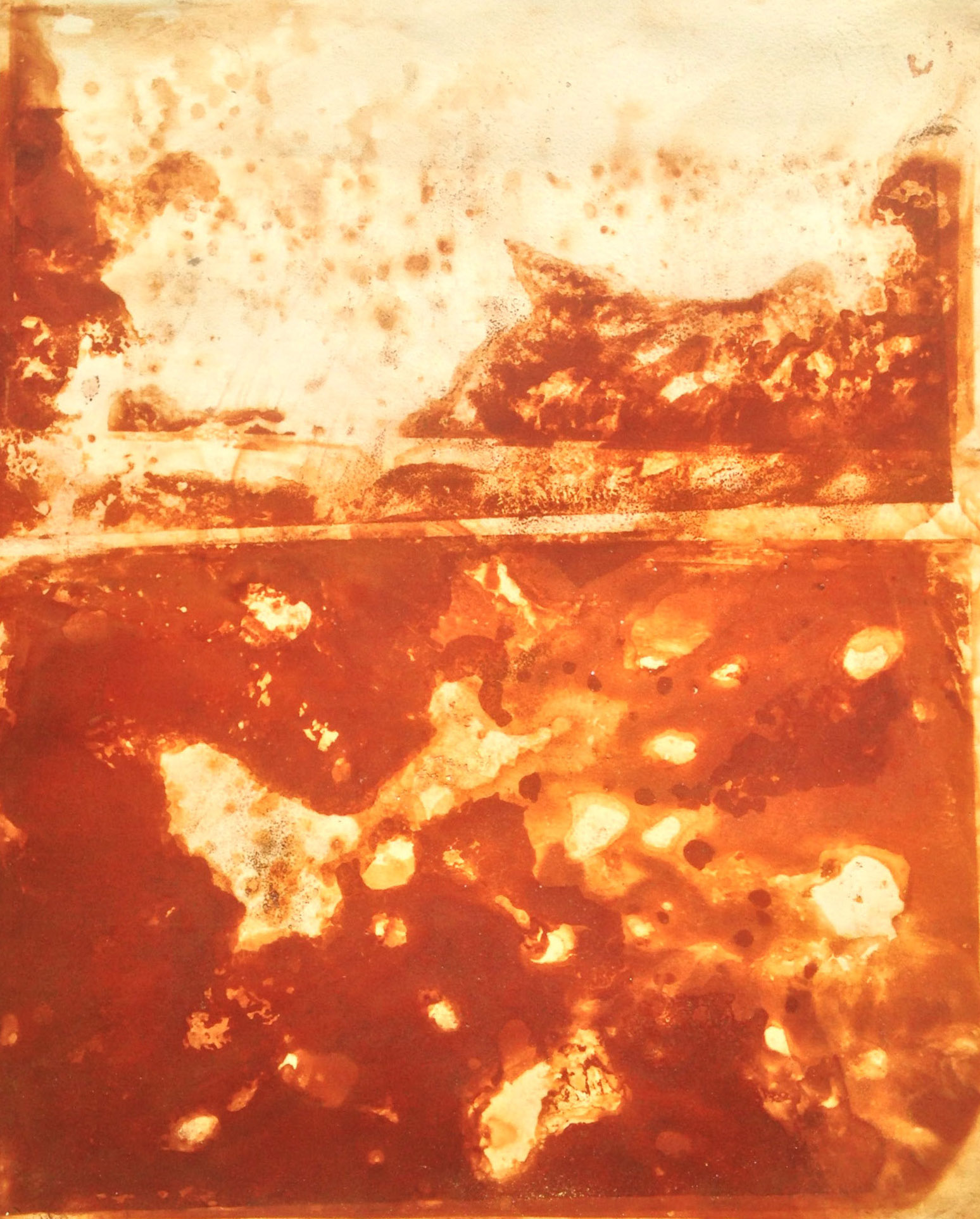 Rust Landscape,  2015  Rust on paper