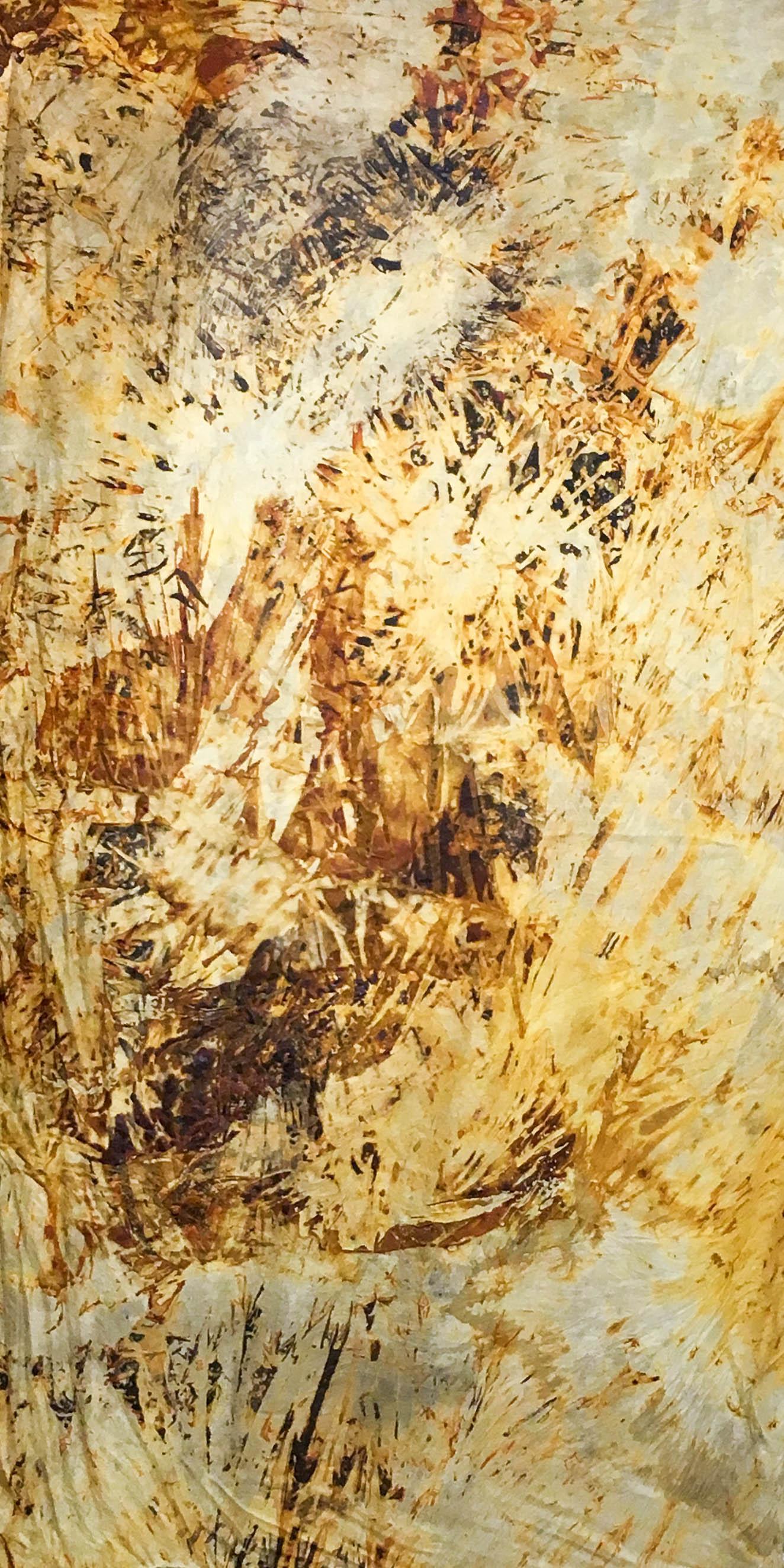 This No Longer Exists III,  2015  Rust on silk