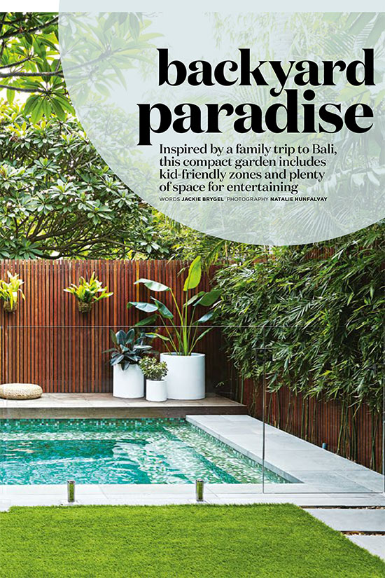 Inside Out Magazine, Harrison's Landscaping Bondi