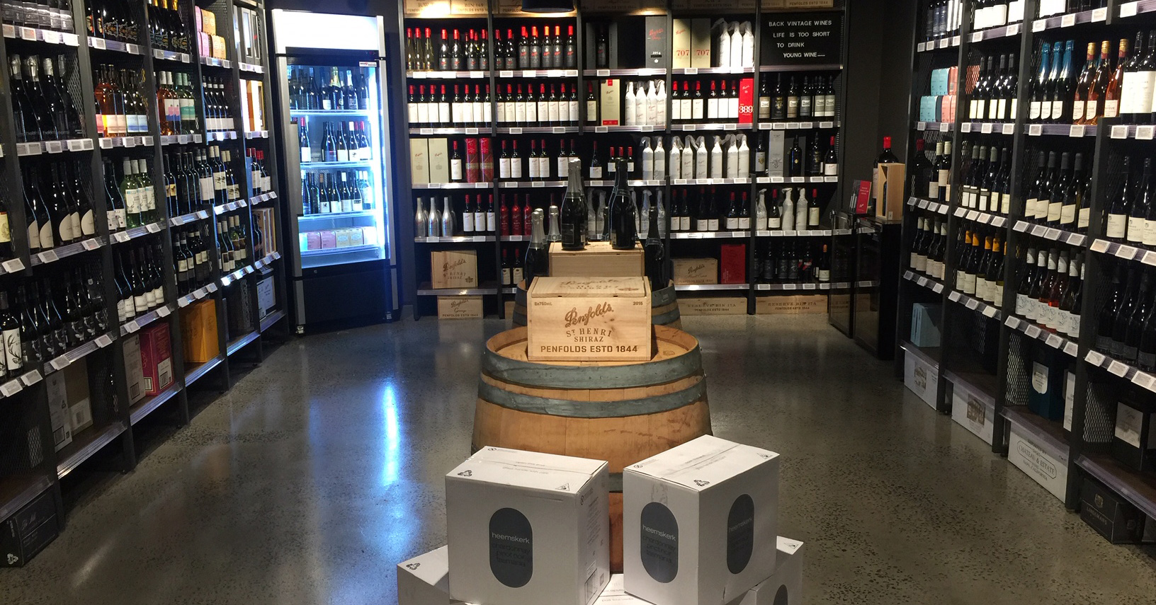TWE's wine shop in Melbourne was recently installed with electronic shelf labels by esLabels.