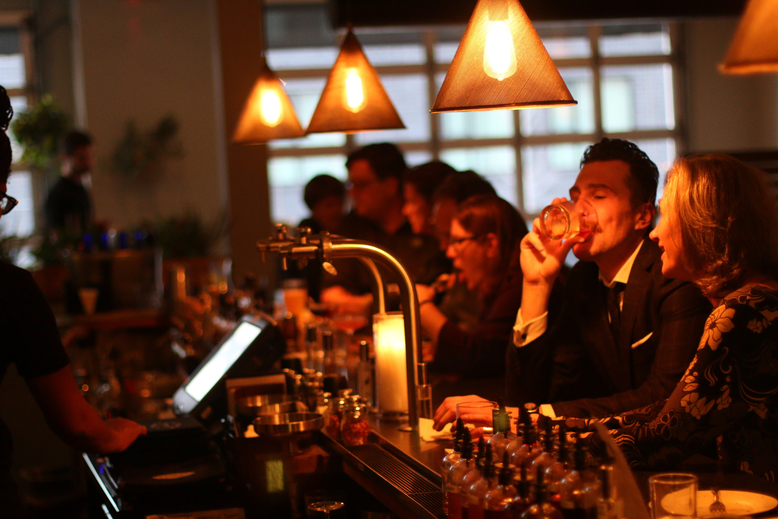 Many came to indulge in the Secret Life of Cocktails event, making for a fun, aromatic night at Pizzeria Verita