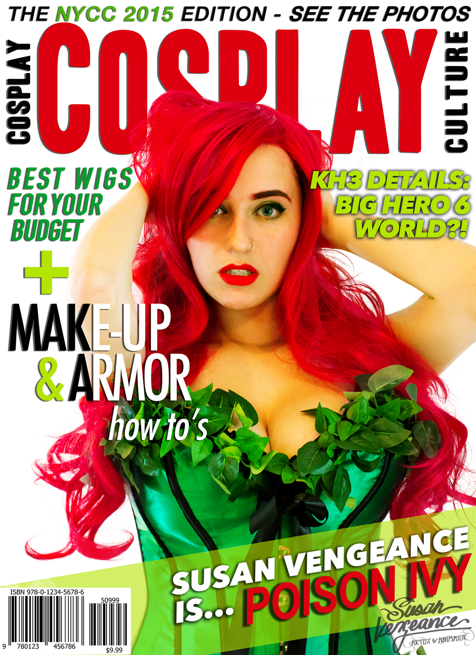Self, tripod, two lights. All editing, hair masking,and design by me - layout inspired by Cosplay Culture Magazine.