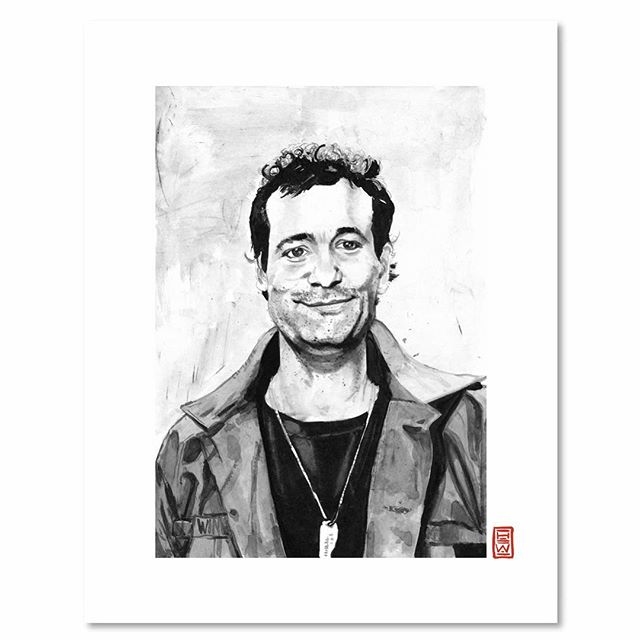 Bill Murray | N E W work in the shop⚡️⚡️⚡️ . . To purchase an archival print from us, clink link in profile. . . . ©️2019 Yokai Studios Illustration by Hassan Warrior . .  #yokai #yokaistudios #yokaistudiosshop #etsy #art #artwork #wemakeart #illustration #illustrator #drawing #blackandwhite #black #bnw #print #archivalprint #fineart #fineartprints #wallart #japaneseink #ink #brush #legend #icon #artist #portrait #billmurray #fineart  #inkpainting