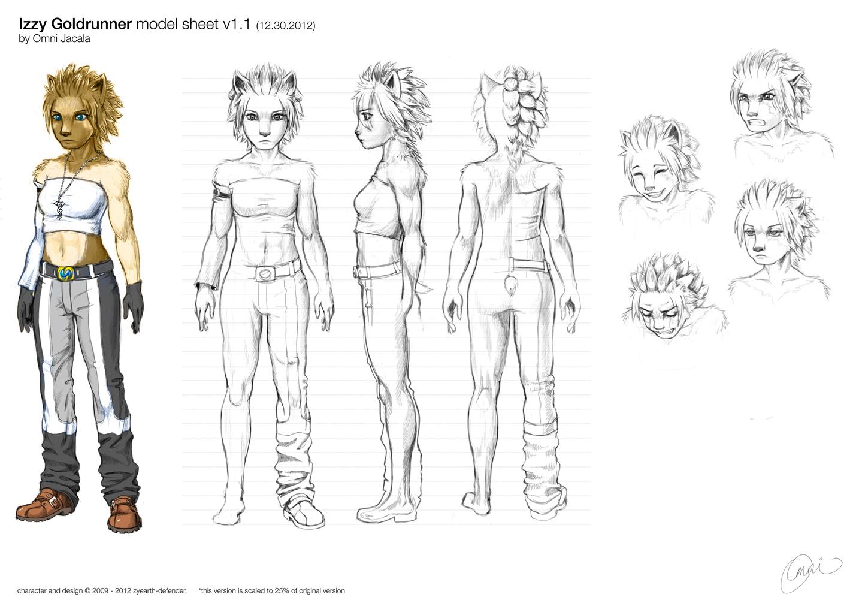Izzy Model Sheet