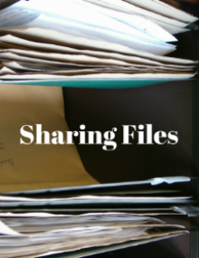 Sharing files with a virtual assistant