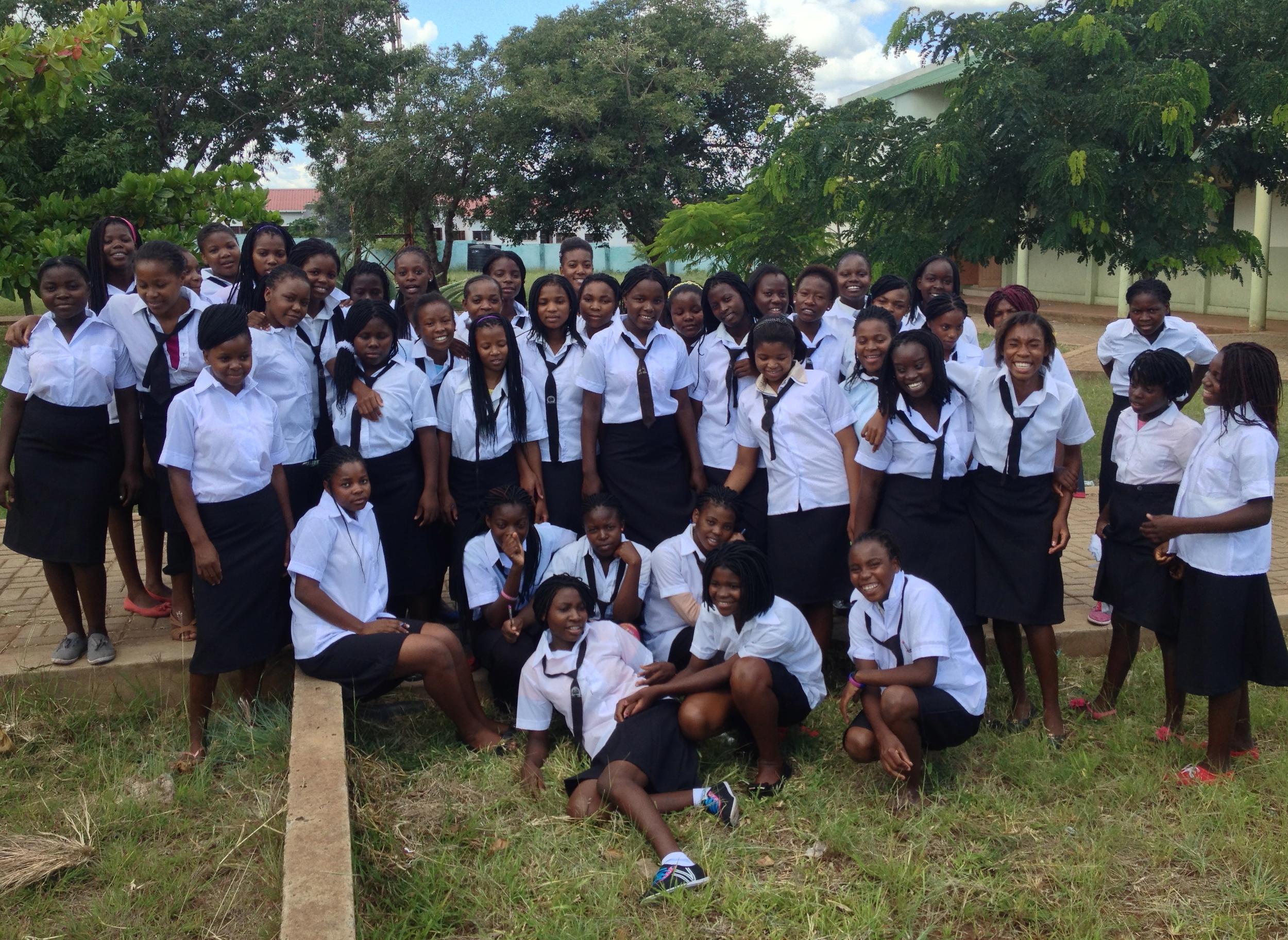 Sponsored Girls at 4th of October School