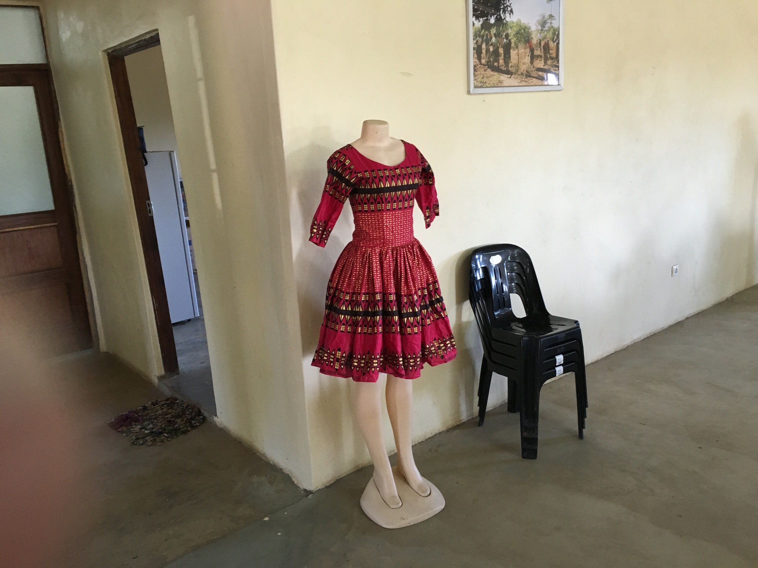Another dress made by a student in Boane.