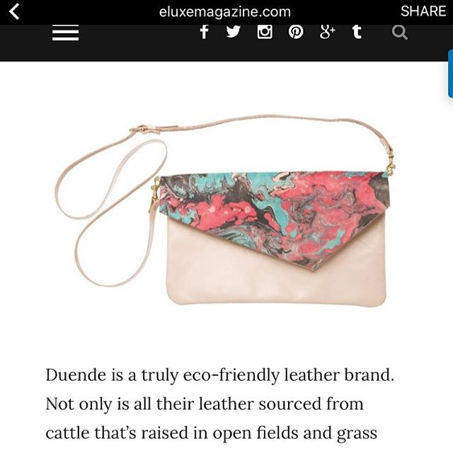 We're pleased to announce the winner of this awesome marbled Duende crossbody clutch! ....Ms. Pearl Davison of Portsmouth, UK 🇬🇧