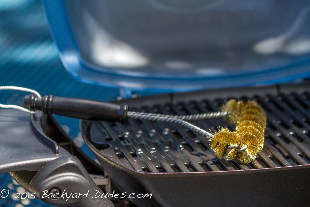 BBQ Grill Brush Brass Made in USA