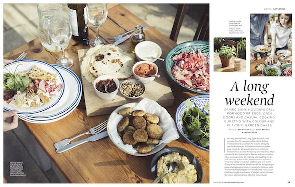 The Simple Things | meat-free weekend menu