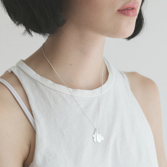 7. ... or perhaps a rainy day sterling silver necklace is more your cup of tea? £59.53, Etsy .