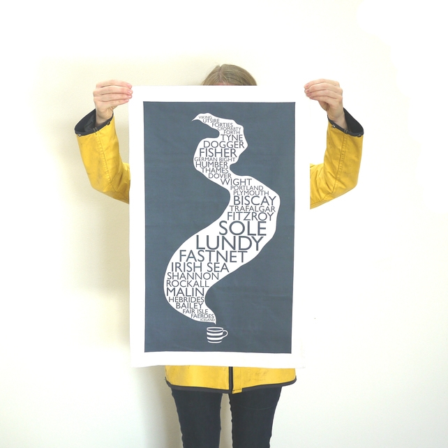 1. Coming out of the radio like a telegramfrom past era, the shipping forecast is both bamboozling and soothing. Remind yourself of those peculiar words with this screen-printed tea towel, £9.50,  Folksy  .