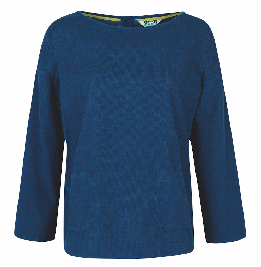 Aroma top in soft needlecord.  seasaltcornwall.co.uk