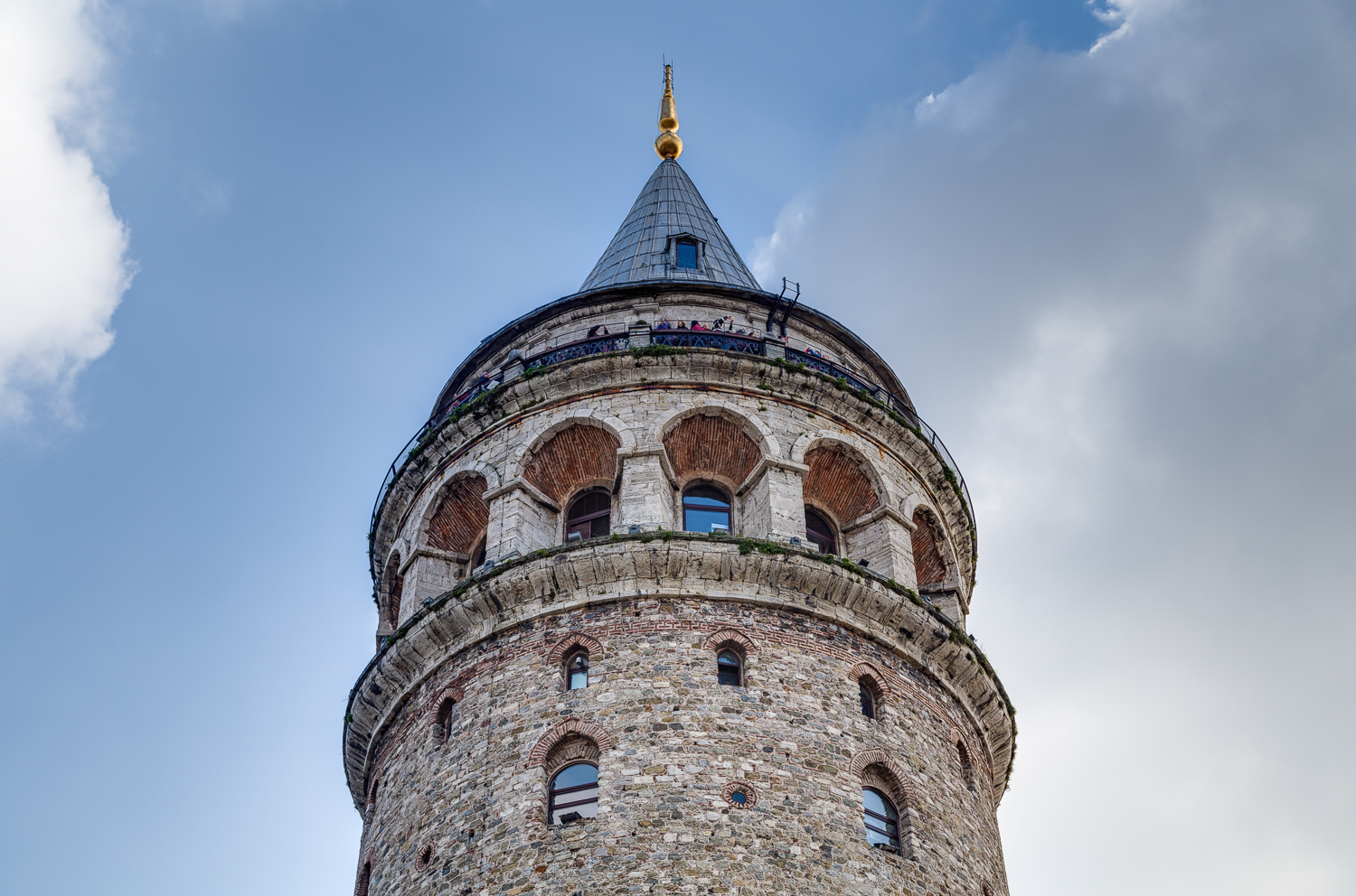 The Galata Tower (Galata Kulesi in Turkish) — called Christea Turris (the Tower of Christ) by the Genoese — is a medieval stone tower in the Galata/Karaköy quarter. It's one of the city's most striking landmarks, dominates the skyline and offers a panoramic vista of the city.