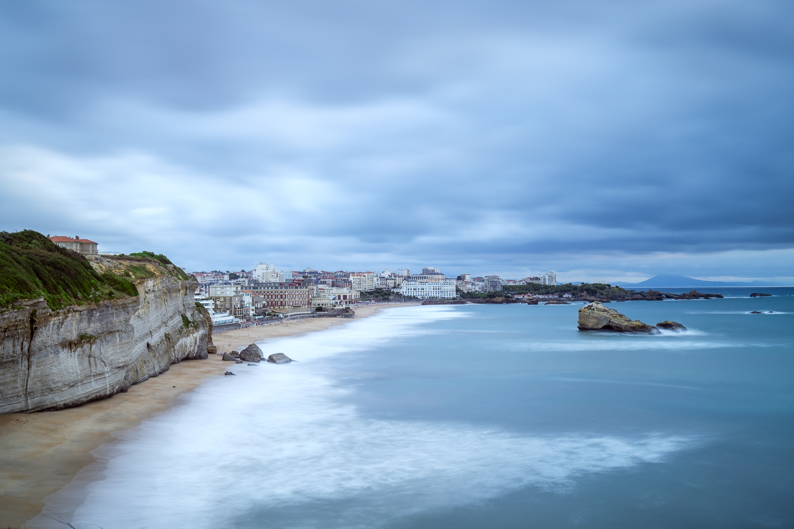 Magnificent Biarritz shot during a stormy sunset from my favourite spot up at the Lighthouse.