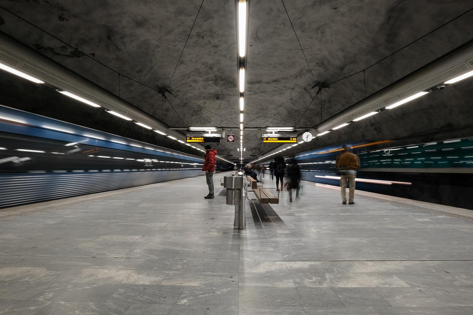 Bagarmossen Metro Station.