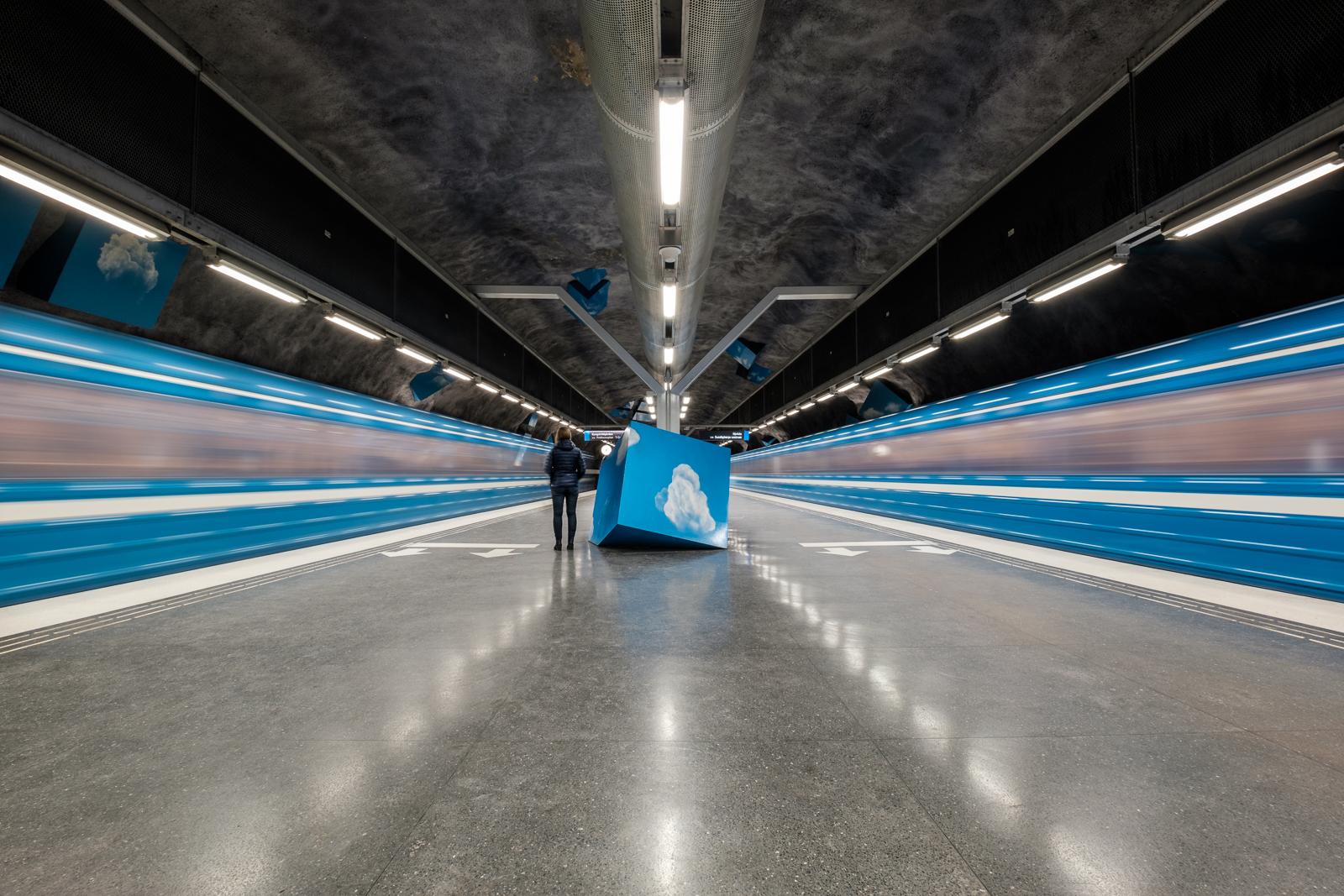 Solna Strand Metro Station.