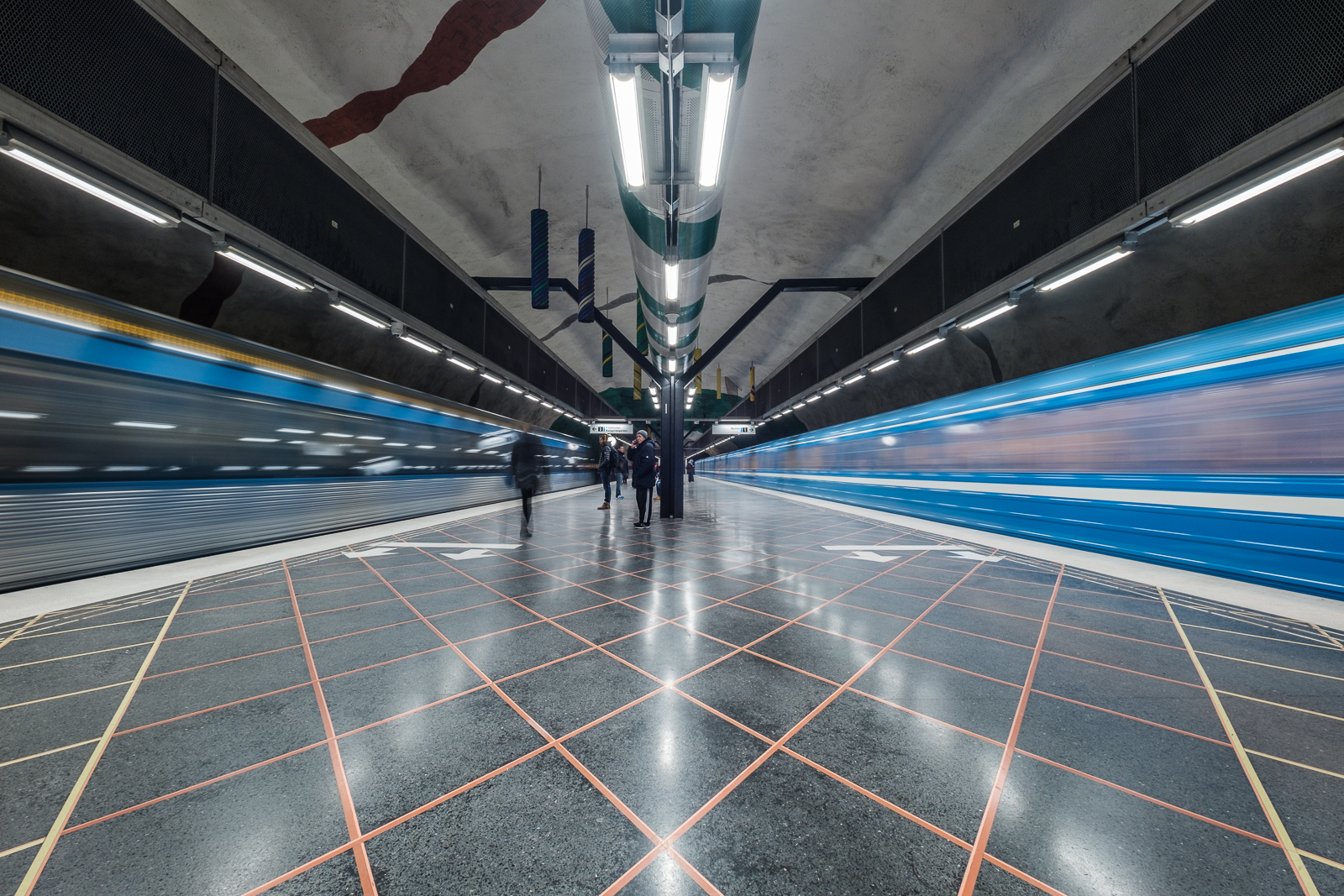 Huvudsta Metro Station.
