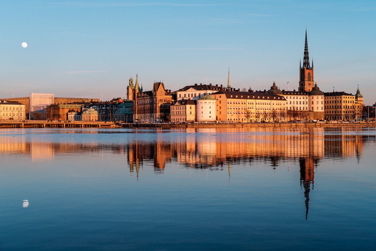 "A classic view of Riddarholmen ""The Knight's Islet"". Shot from the City Hall."