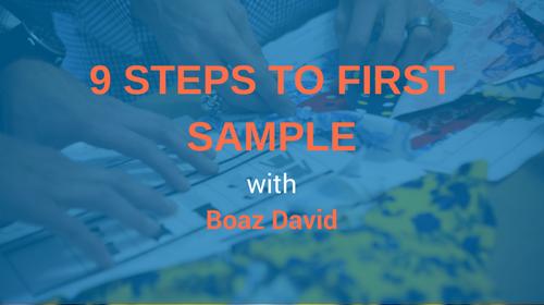 9 steps to first sample workshop
