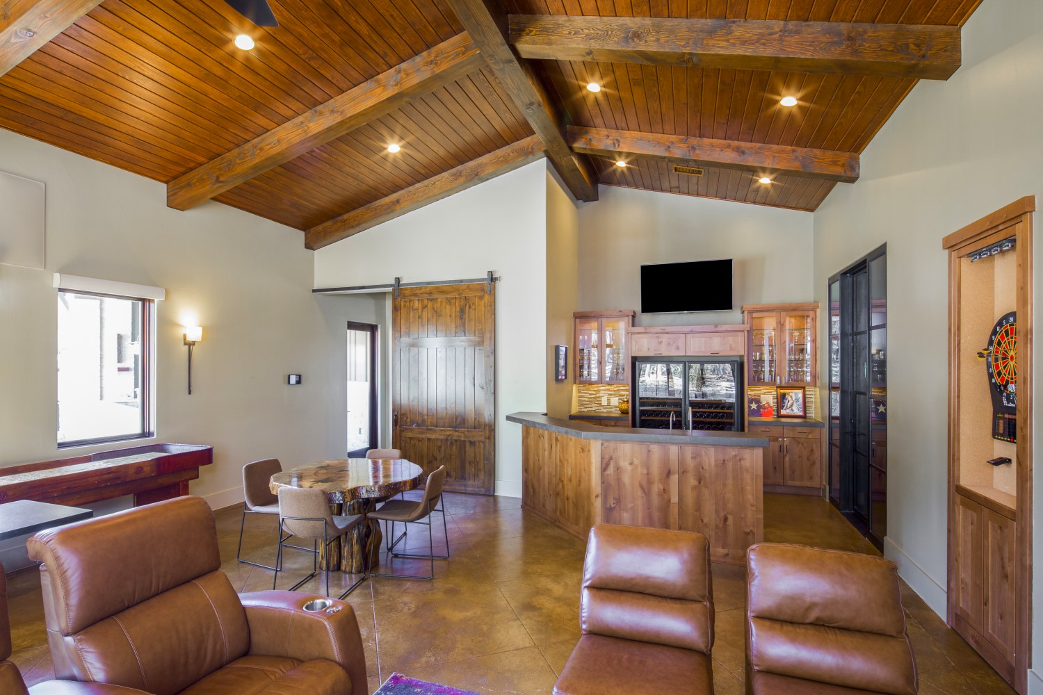 Architecture Home Hill country farmhouse game room