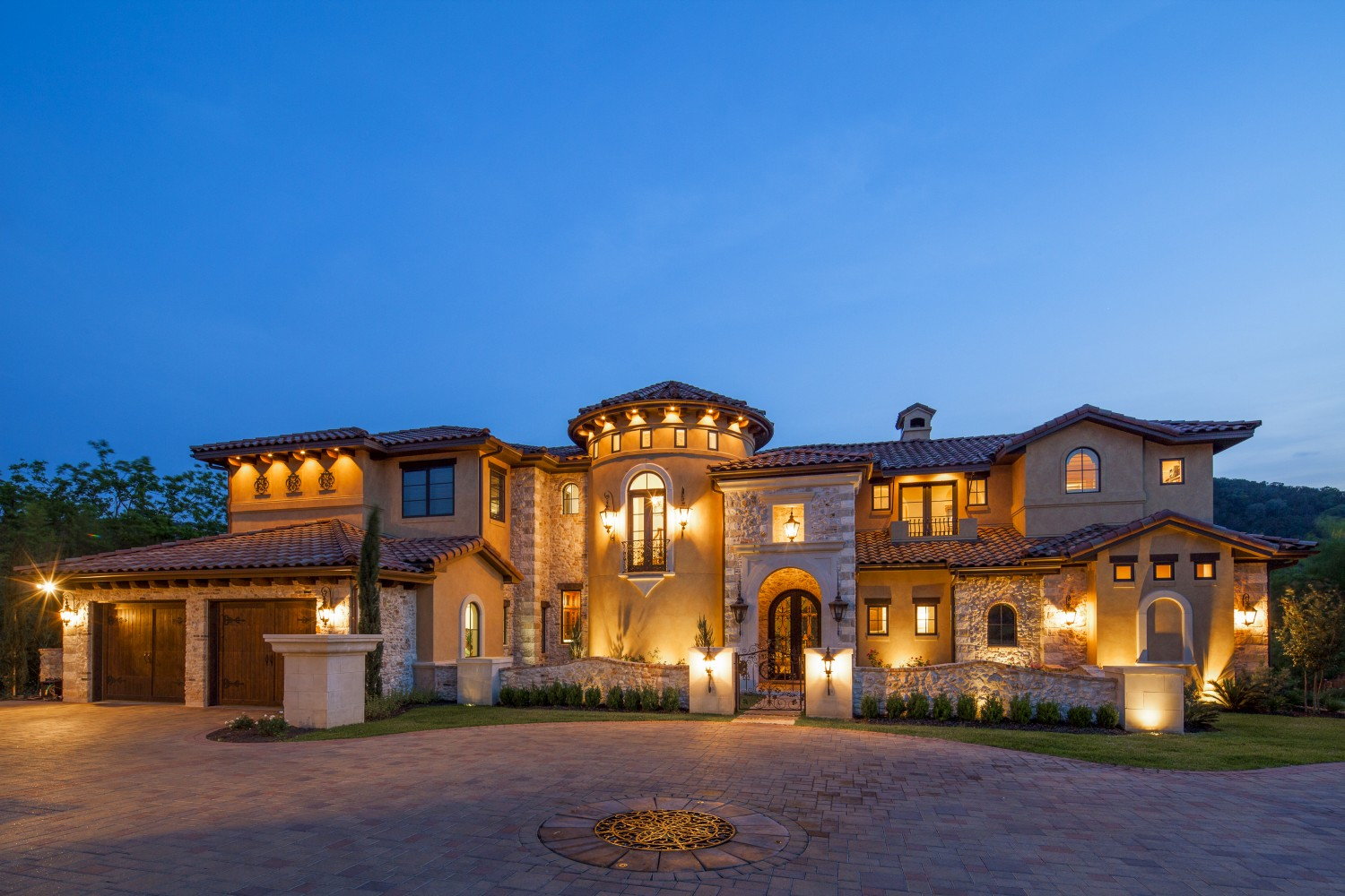 Architecture Home Eclectic old world exterior