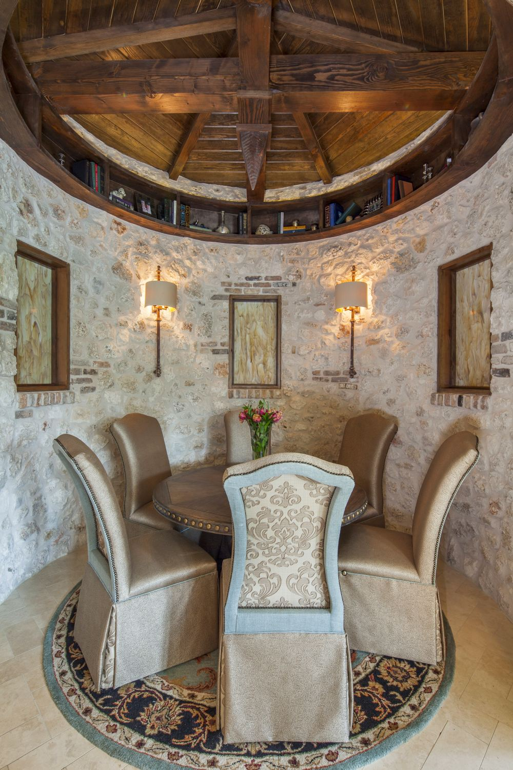Architecture Home Eclectic old world dining