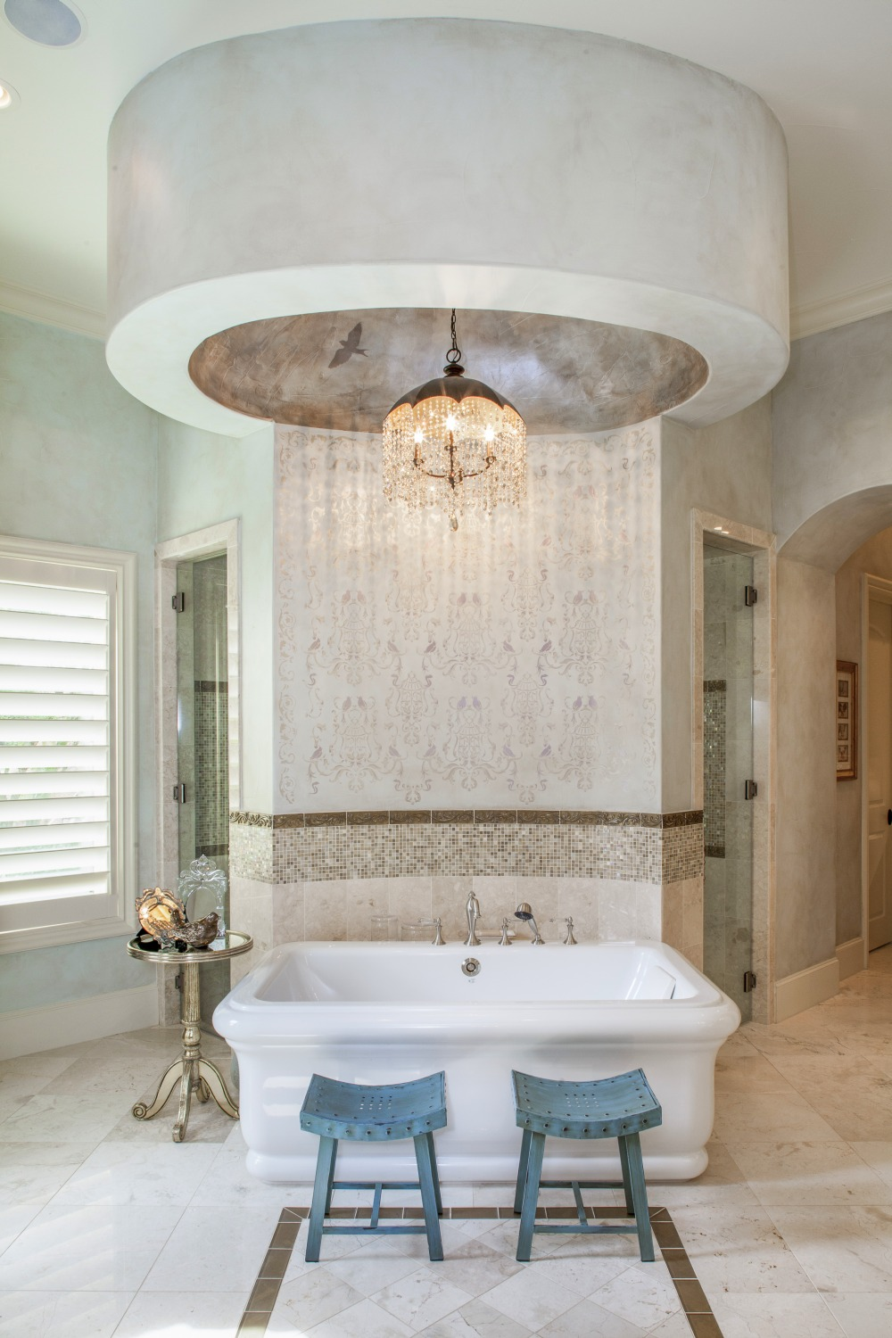 Architecture Home Eclectic old world bathroom tub