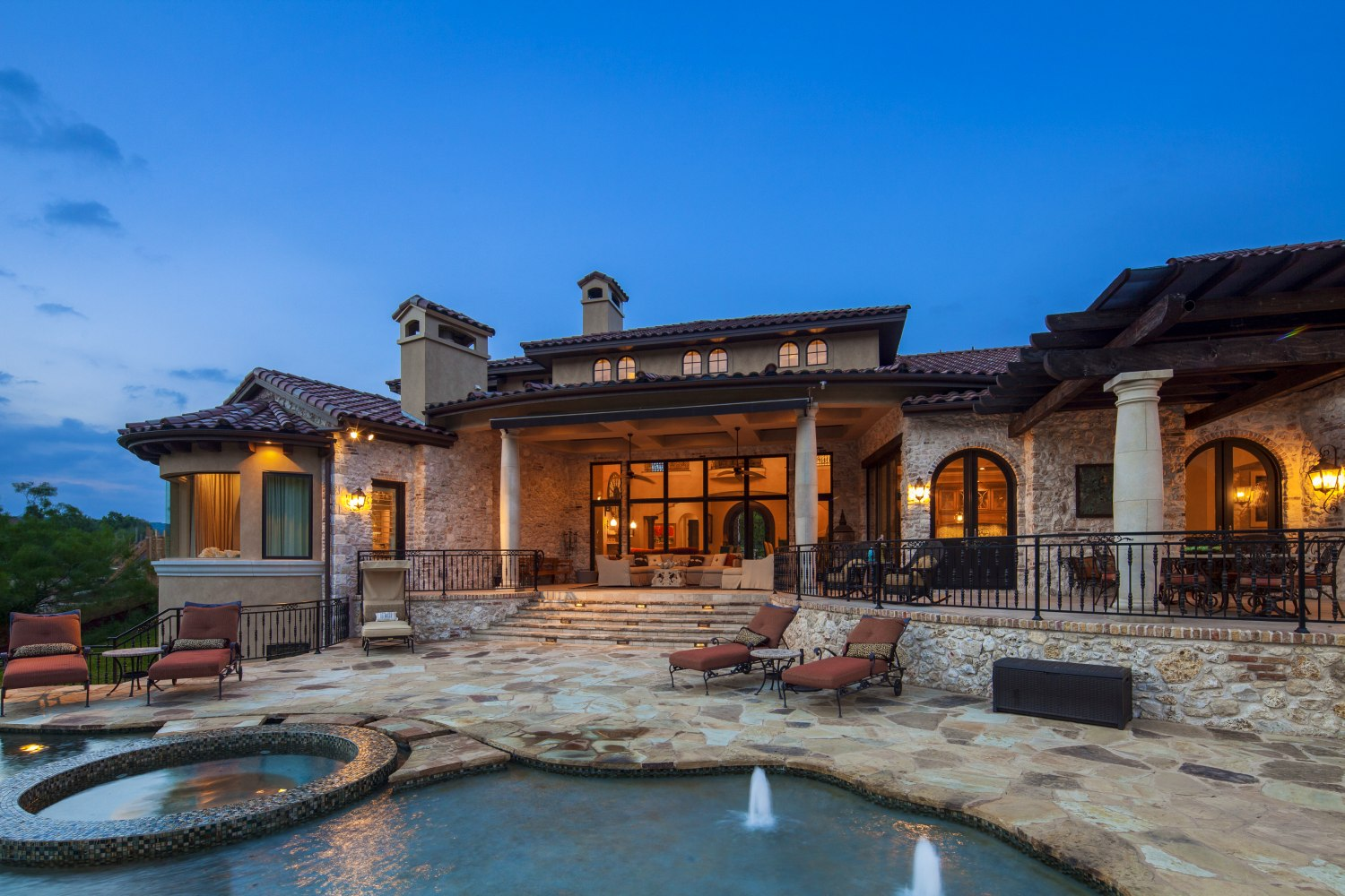 Architecture Home Eclectic old world pool