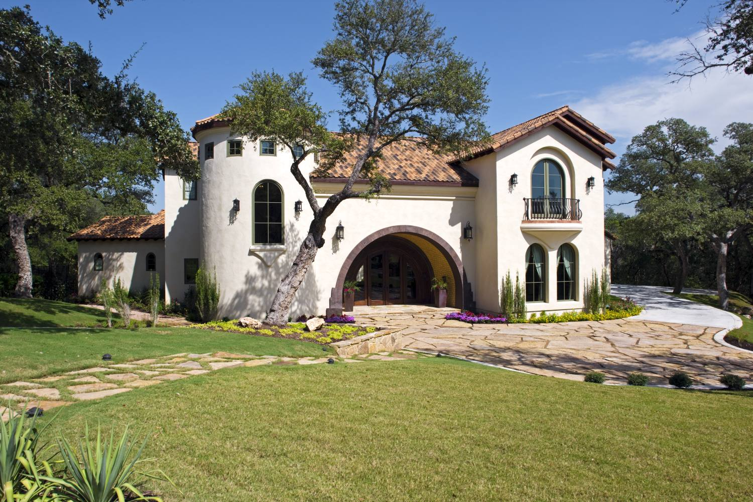 Architecture Home Spanish Villa exterior