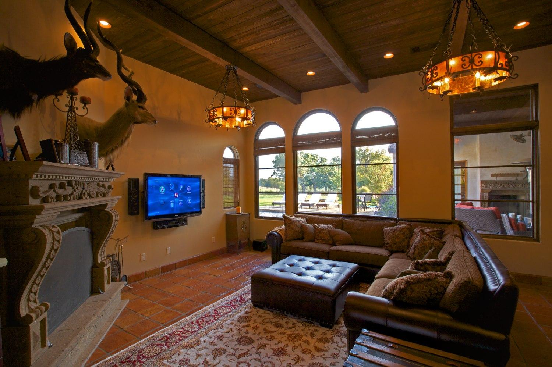 Architecture Home Cimarron hacienda game room