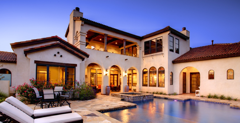 Architecture Home Cimarron hacienda pool
