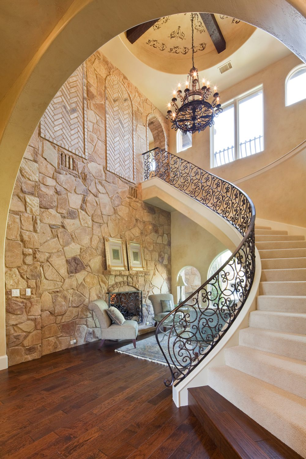 Architecture Home Texas tuscan staircase
