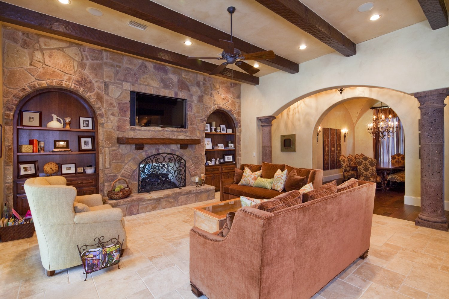 Architecture Home Texas tuscan family