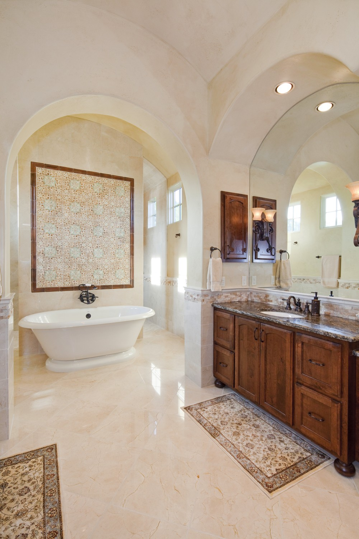 Architecture Home Texas tuscan bathroom