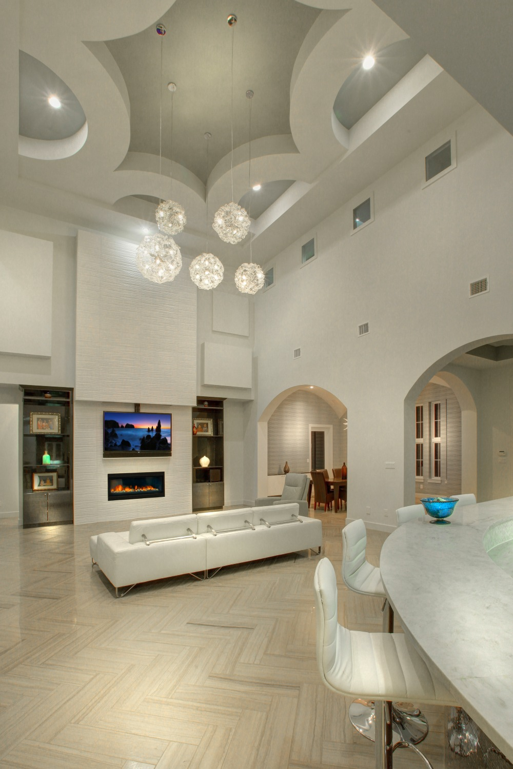 Architecture Home Contemporary modern family ceiling