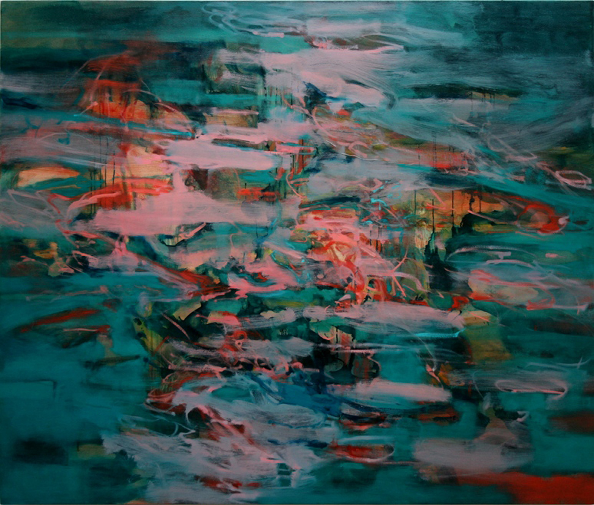 Untitled (pink)  2005  oil on canvas  141.5 x 167.5 cm