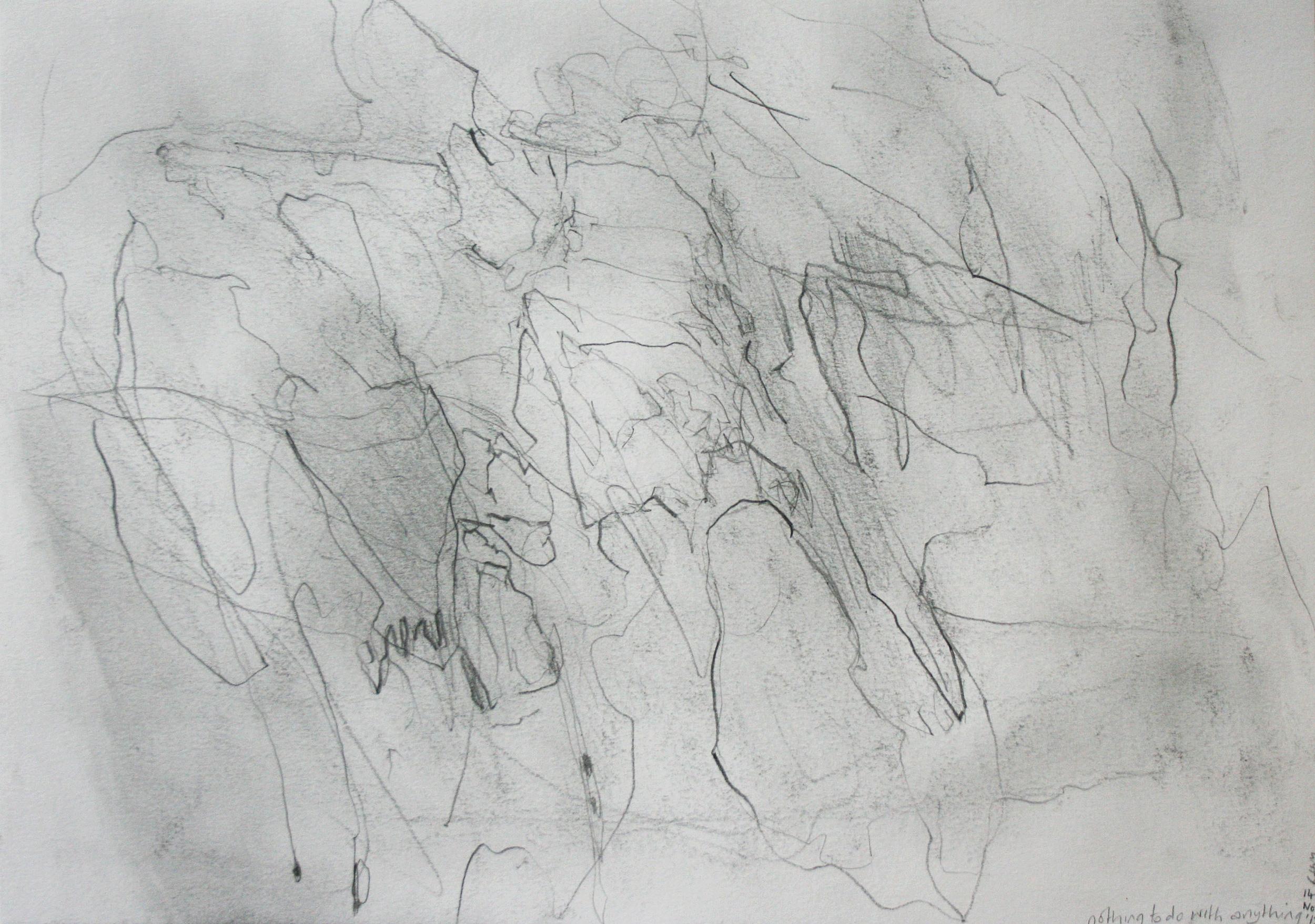 Left hand Drawing I  November  2015  graphite on paper  21 x 30 cm